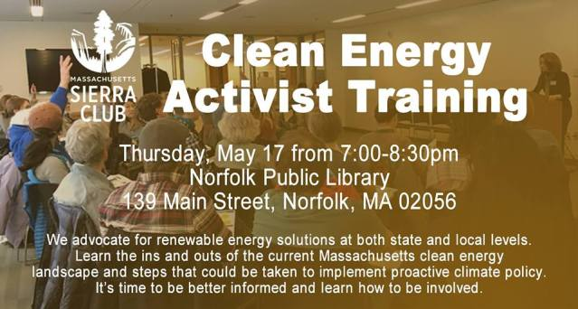 clean energy activist training sierra club ma