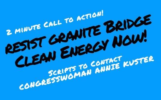 2-minute call to action - resist granite bridge