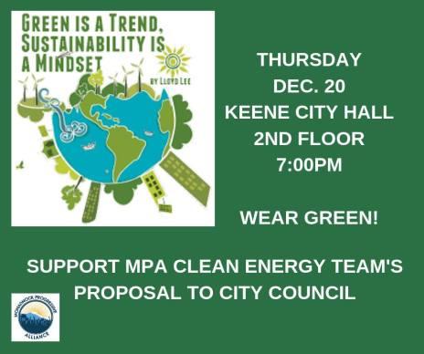 Keene City Council - Sustainability