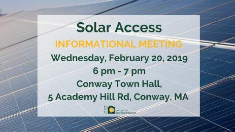 Solar Access Meeting 2-20-19