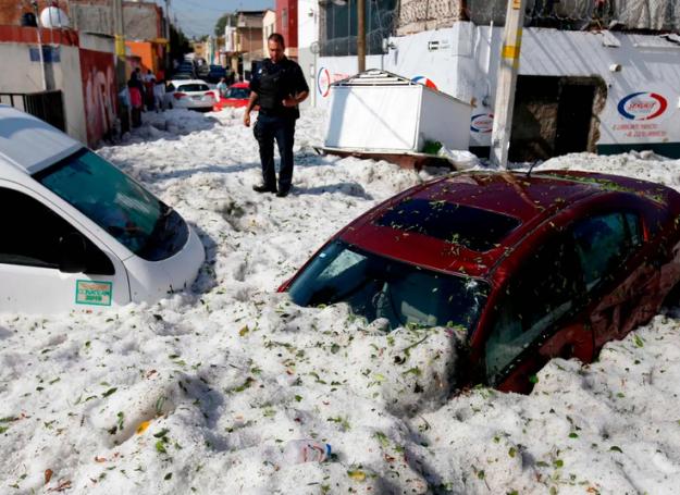 Guadalajara hail storm
