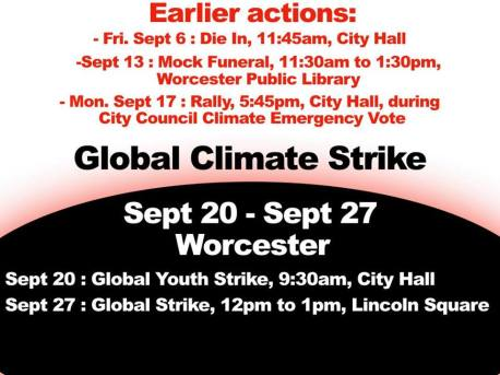 global climate strike - worcester