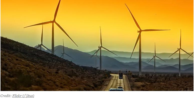 turbines in desert