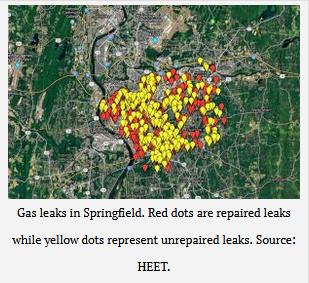 Gas leaks in Springfield