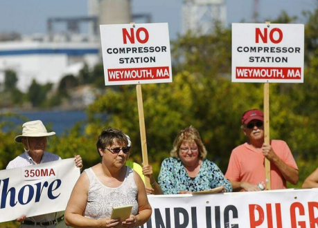 Weymouth compressor protesters 10-9