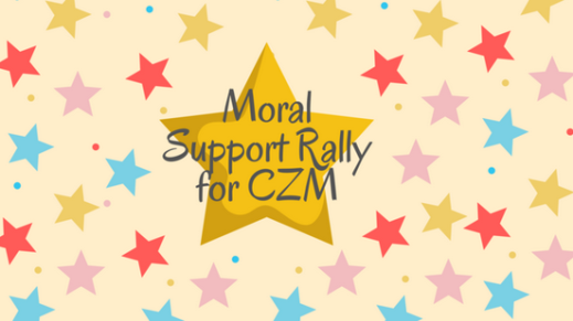 moral support rally for CZM