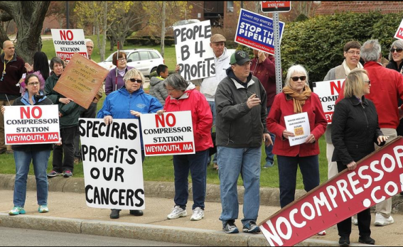 Weymouth compressor protesters