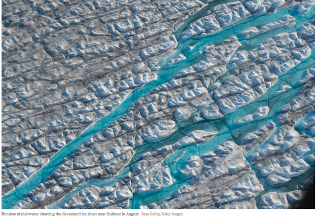 meltwater rivulets - Greenland