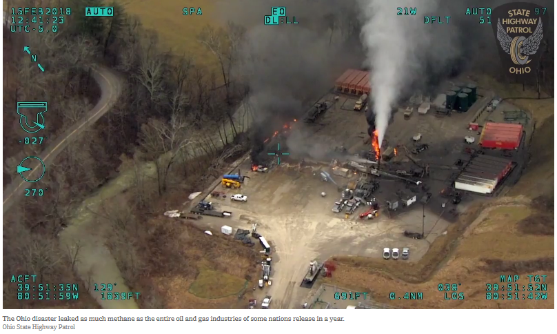 Ohio methane blowout