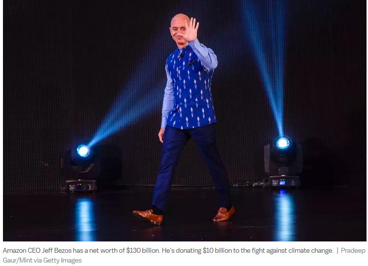 Bezos dressed himself today