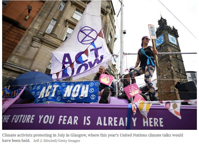 Glasgow COP26 delayed