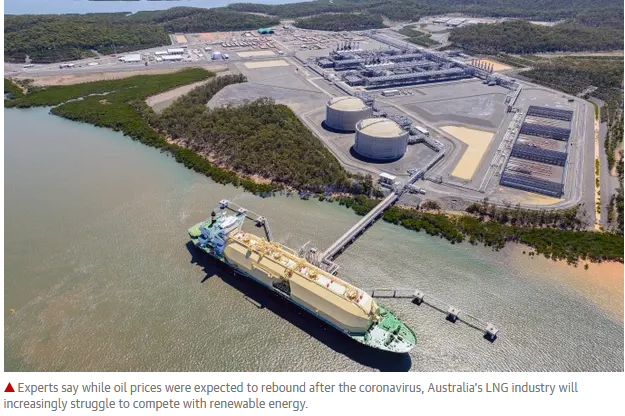 LNG hits pause down under