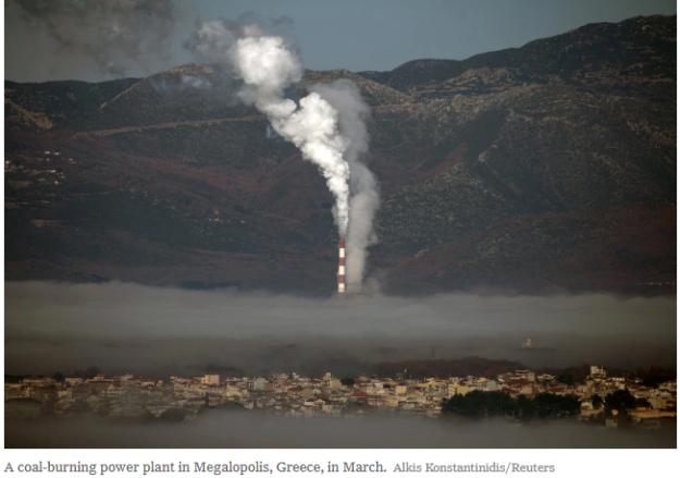 Megalopolis coal smog