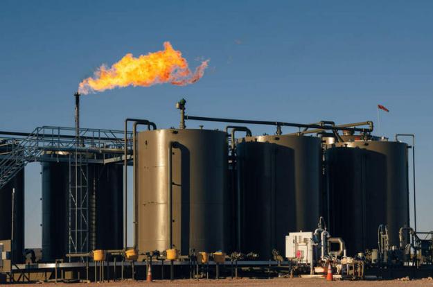 Permian methane flare