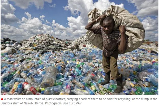 plastic Mt Kenya