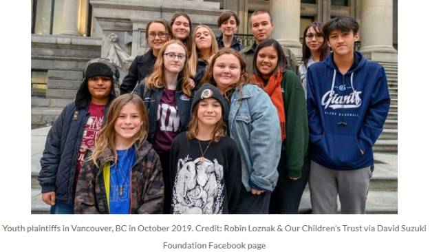 youth climate plaintiffs Canada