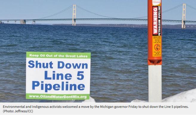 Line 5 shut down