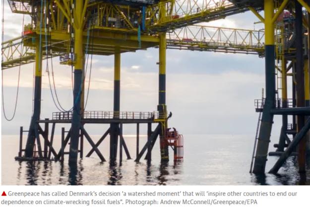 Denmark to stop exploration