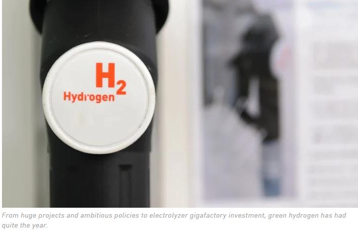 green hydrogen 2020 recap