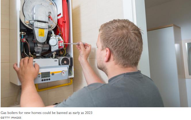 UK gas boiler ban coming