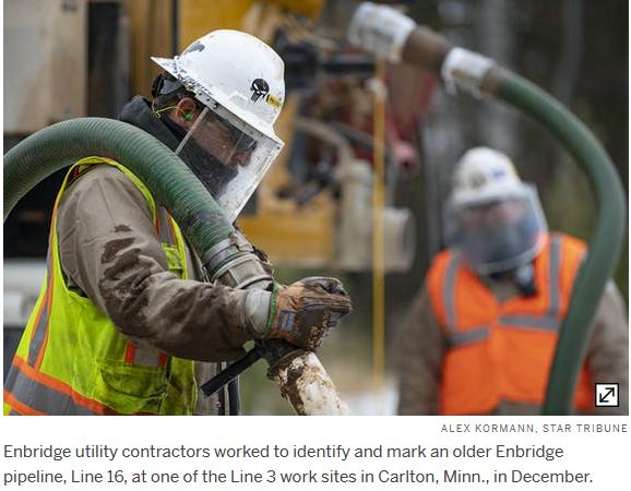 Enbridge utility contractors