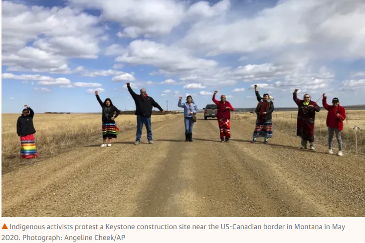 indigenous KXL protesters