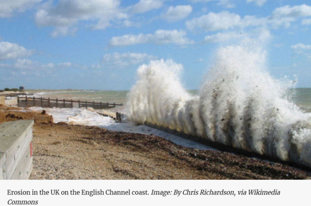 beach erosion UK