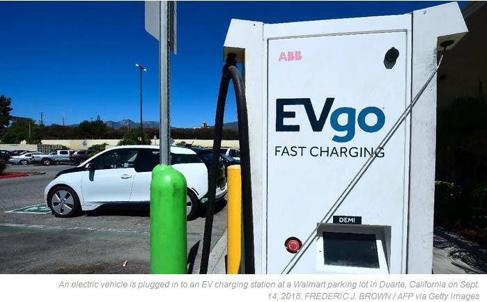 EV charge station push