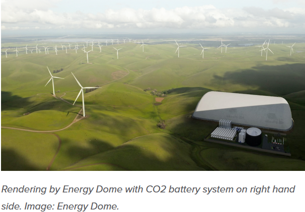 CO2 battery system