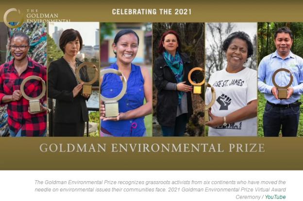 Goldman prize 2021