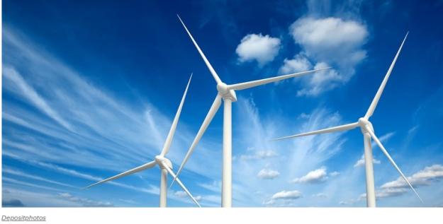 turbines and sky