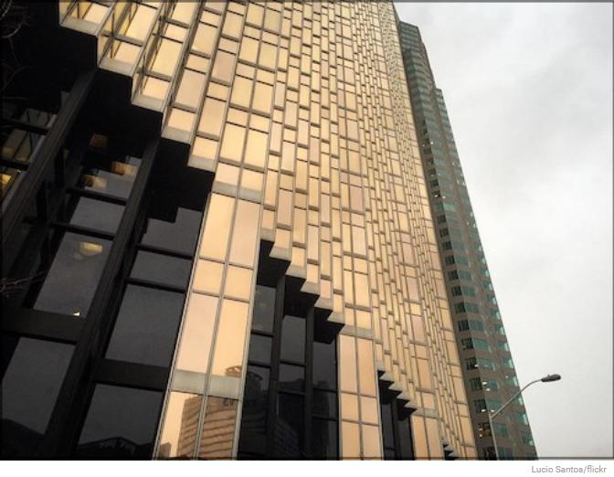 big shiny building