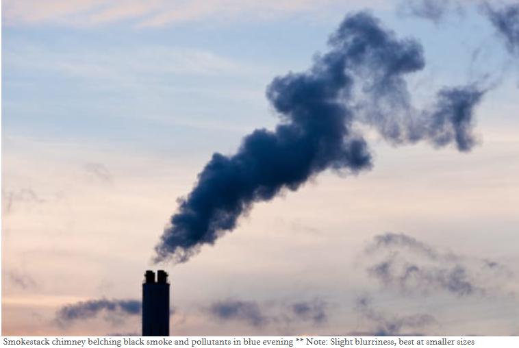 smoke and pollutants