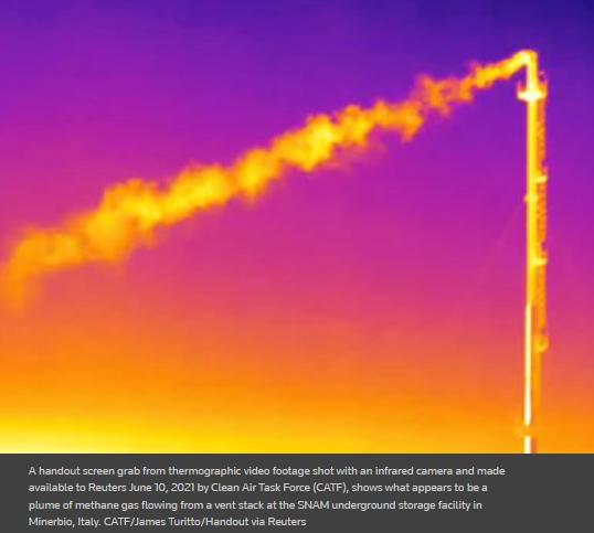 methane plume
